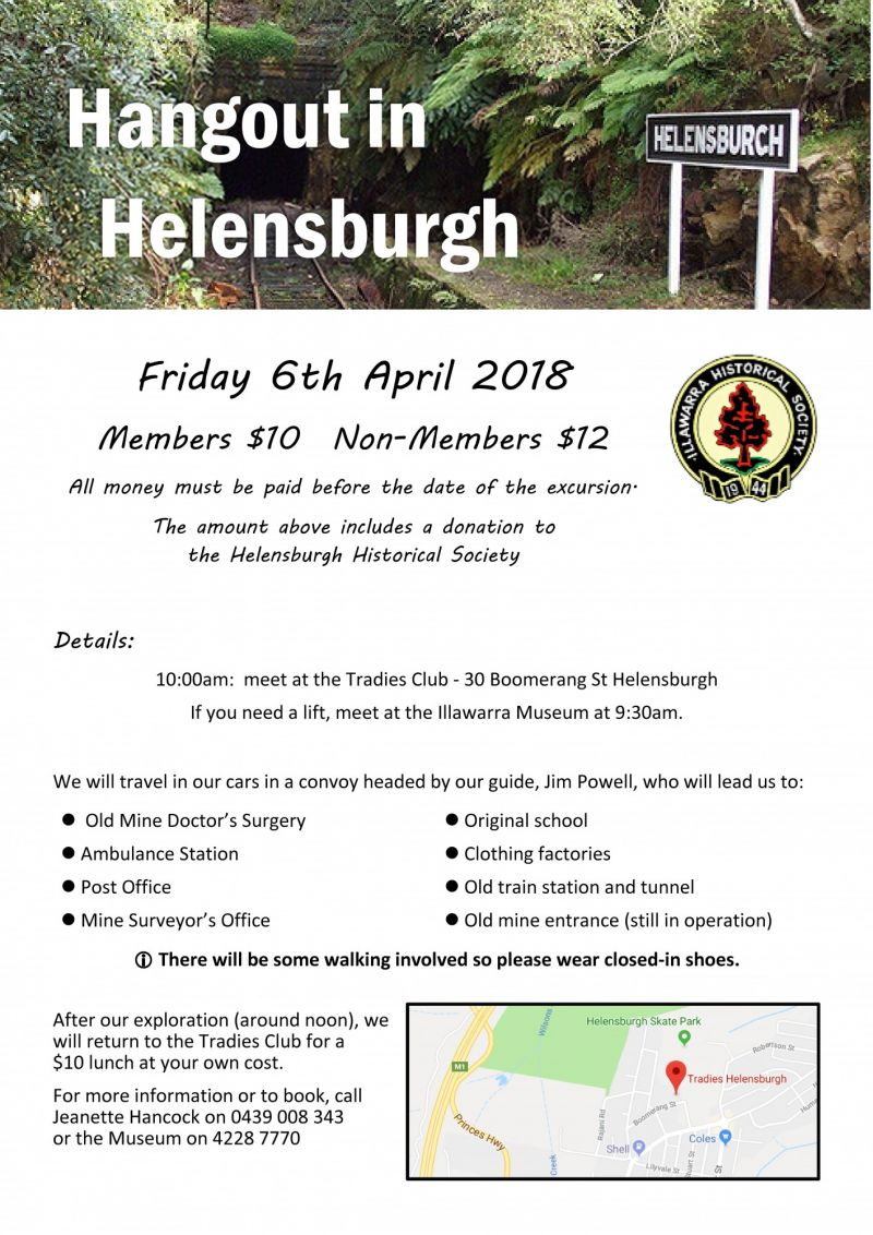 HANGOUT IN  HELENSBURGH - Friday 6th April 2018. Tour the local history of Helensburgh.
